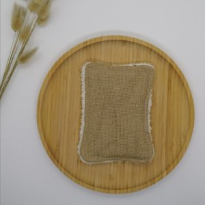 Eponge grattante lavable beige