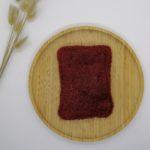 Eponge grattante lavable rouge