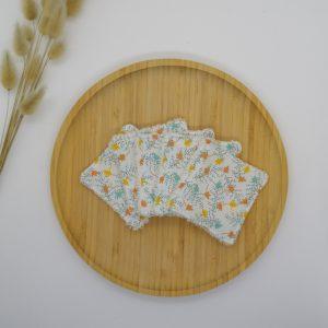 Carrés démaquillants lavables coton biologique GOTS Célia