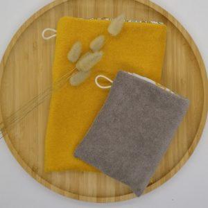 gant de toilette d'apprentissage micro-éponge